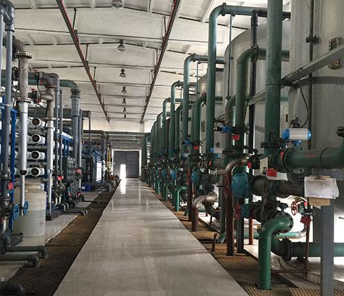 银川客户水处理设备现场